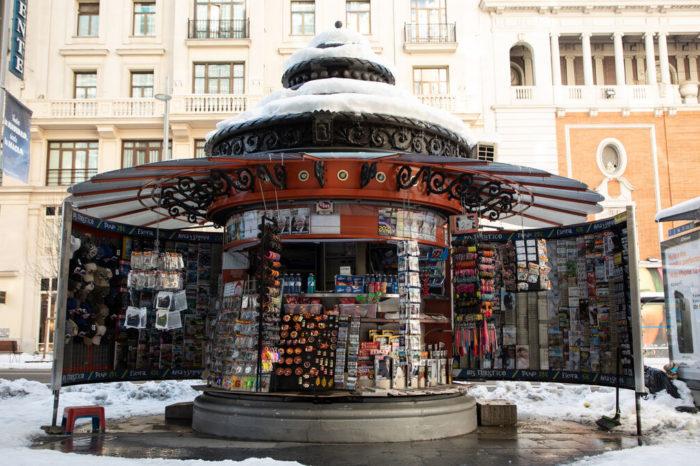 La nieve en Madrid termina de hundir al periodismo impreso en España