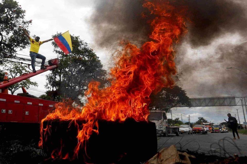 caos en Colombia