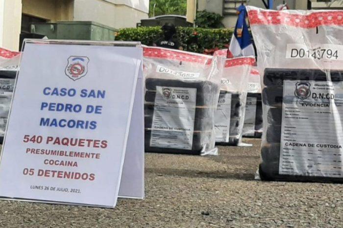 Cinco venezolanos fueron capturados con más de 500 paquetes de cocaína en República Dominicana